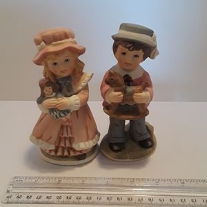 Home Interiors Figurines boy and girl
